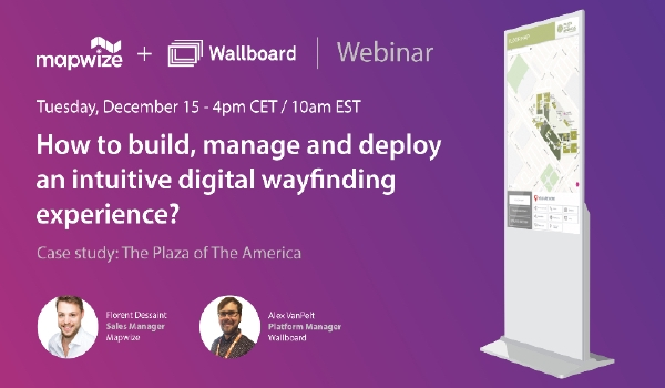 Webinar invite from Mapwize and Wallboard